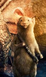 Il topo guerriero Ripicì e Eustacchio trasformato un un drago. -  Dall'articolo: La fotogallery delle Cronache di Narnia - Il viaggio del veliero.