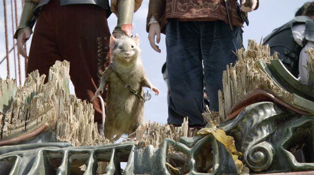 Il topo guerriero Ripicì. -  Dall'articolo: La fotogallery delle Cronache di Narnia - Il viaggio del veliero.