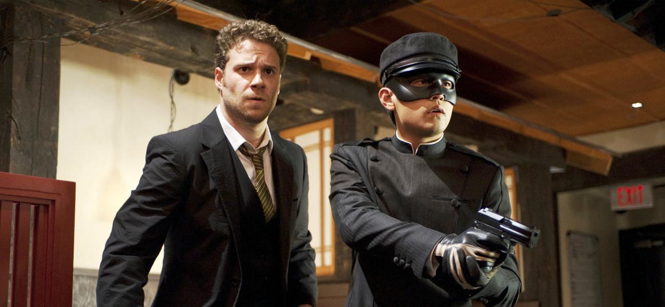 In foto Seth Rogen (38 anni) Dall'articolo: Online la premiere di The Green Hornet.