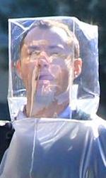 Una pandemia alimentata da Twitter e dall'H1V1 - Jude Law sul set di Contagion a San Francisco.
