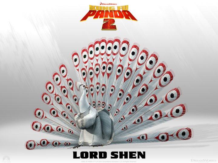 Lord Shen è un essere molto intelligente, altamente letale e mosso dall'ambizione. -  Dall'articolo: Kung Fu Panda 2, rivelati 4 nuovi personaggi.