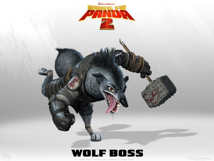Il Boss dei Lupi è il fedele servitore di Lord Shen. Un tempo era lui a proteggere il palazzo reale di Gongmen City. -  Dall'articolo: Kung Fu Panda 2, rivelati 4 nuovi personaggi.