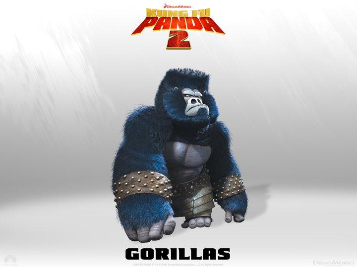I Gorilla sono i muscoli dell'armata di Lord Shen. Per i lavori pesanti loro sono sempre a disposizione. -  Dall'articolo: Kung Fu Panda 2, rivelati 4 nuovi personaggi.