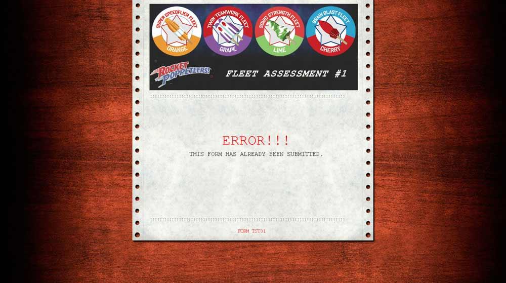 Il messaggio automatico dopo il completamento  dell'assegnazione della flotta. -  Dall'articolo: Le campagne virali parallele di Super 8.