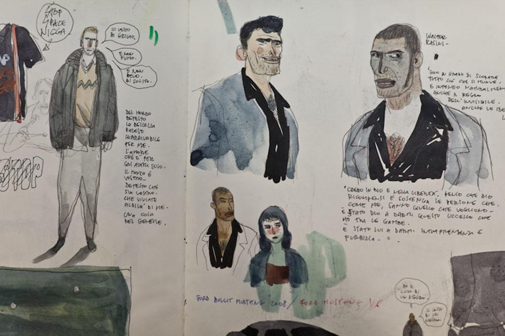 Uno storyboard del film L'ultimo terrestre. -  Dall'articolo: Comicon, in arrivo L'ultimo terrestre.