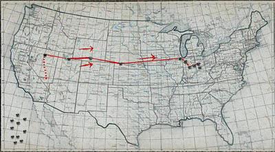 La mappa ricostruita da Super 8 News -  Dall'articolo: Super 8, quattro clip ricostruiscono l'incidente.
