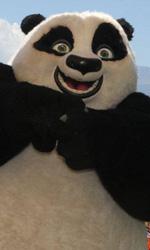 Jack Black, cuore di panda - Il panda Po al photocall di Kung Fu Panda 2 a Taormina.