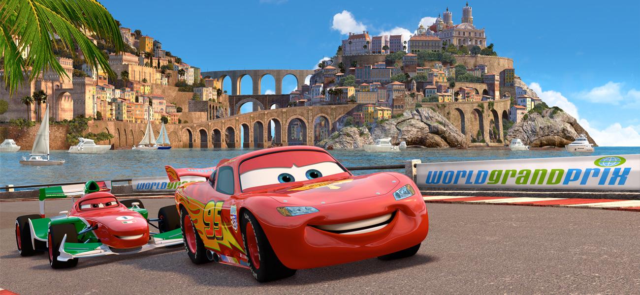 Una scena del film d'animazione Cars 2, sequel diretto da John Lasseter. -  Dall'articolo: Cars 2 scatta in Italia.
