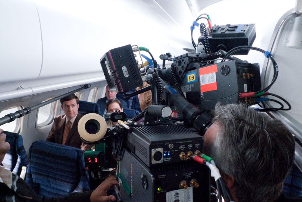 Una foto dal set del film Cedar Rapids. -  Dall'articolo: John C. Reilly, grande attore o comprimario di lusso?.