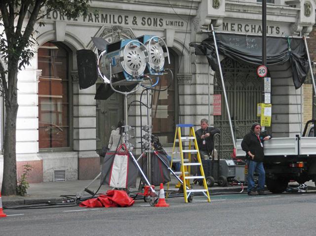 Farmiloe Building a St. John's Street a Farringdon per il  dipartimento di polizia di Gotham City. -  Dall'articolo: The Dark Knight Rises, incidente sul set.