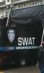 The Dark Knight Rises, incidente sul set - Farmiloe Building a St. John's Street a Farringdon per il  dipartimento di polizia di Gotham City.
