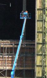 The Dark Knight Rises, incidente sul set - L'hangar di Cardington.