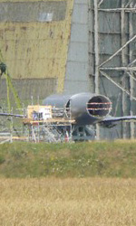The Dark Knight Rises, incidente sul set - Il jet usato per i lanci.