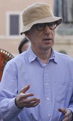 Benigni sul set con Woody Allen
