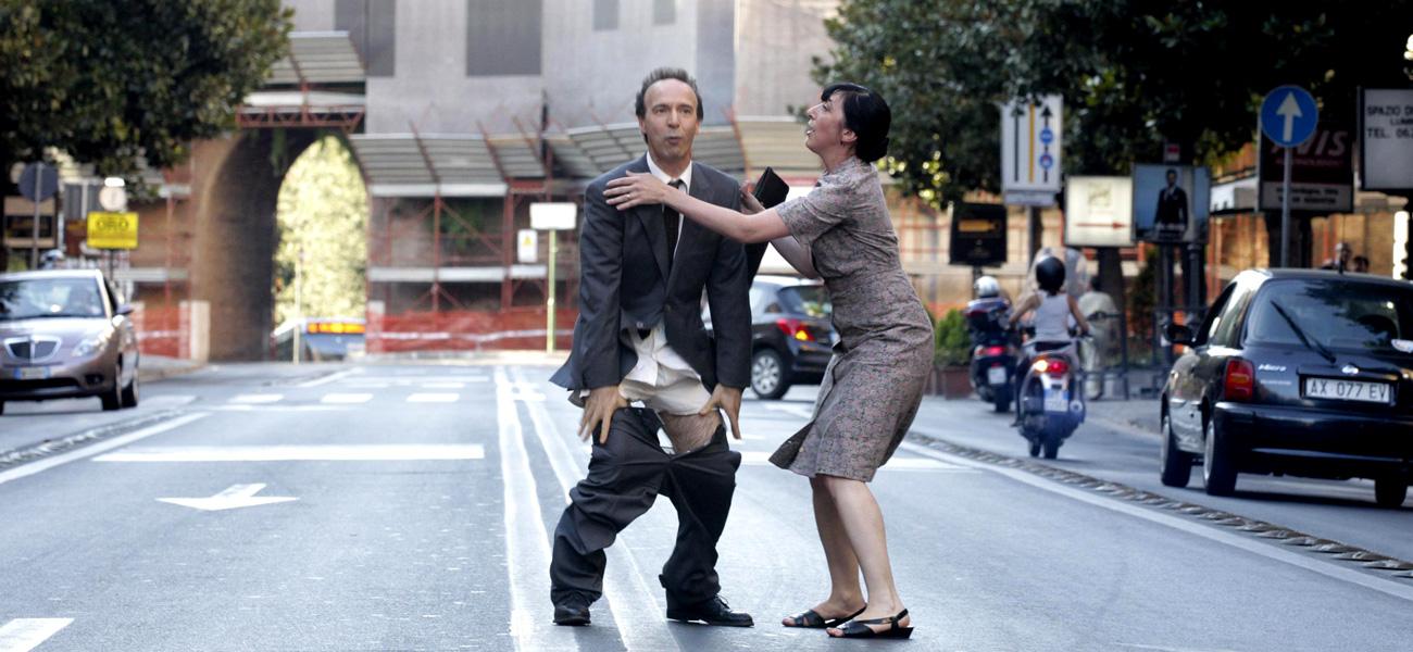 In foto Roberto Benigni (67 anni) Dall'articolo: Benigni si spoglia per Allen.