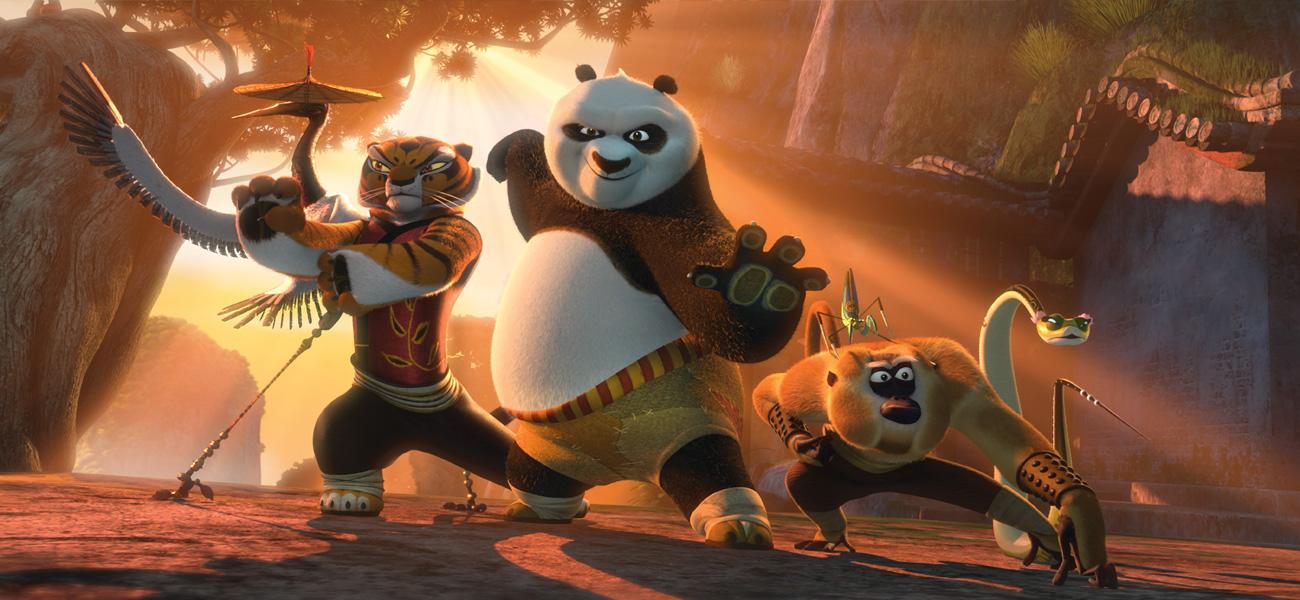 In foto una scena del film d'animazione Kung Fu Panda 2, diretto da Jennifer Yuh -  Dall'articolo: Kung Fu Panda 2, l'arte supera la tecnologia.