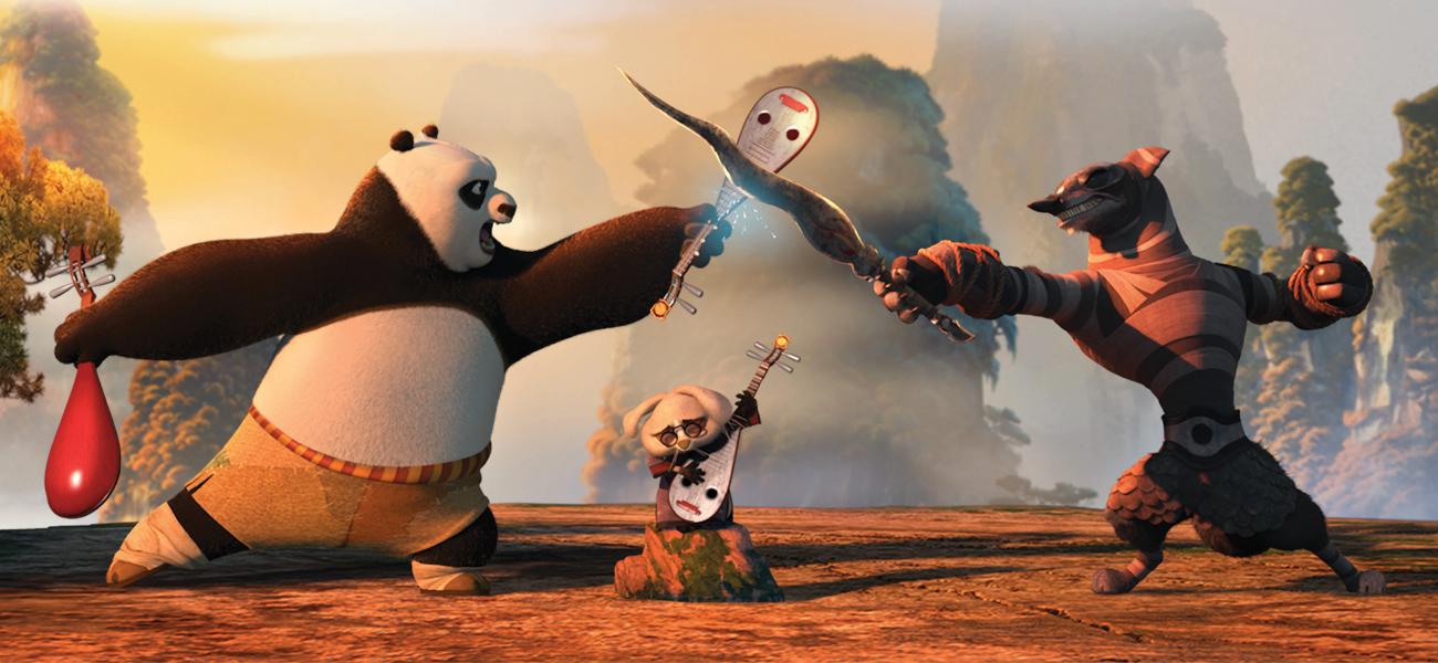 In foto una scena del film Kung Fu Panda 2. -  Dall'articolo: Film nelle sale: dalla Cina con furore.