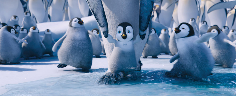 In foto una scena del film Happy Feet 2 in 3D. -  Dall'articolo: Happy Feet 2, bentornati in Antartide.