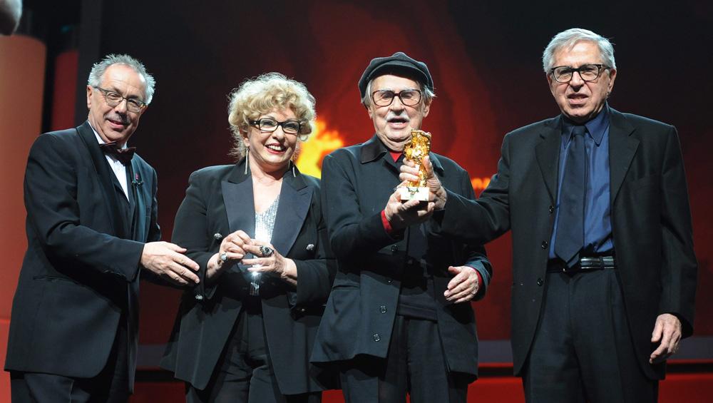 In foto Paolo Taviani (87 anni) Dall'articolo: Berlinale 2012, Orso d'oro a Cesare deve morire.