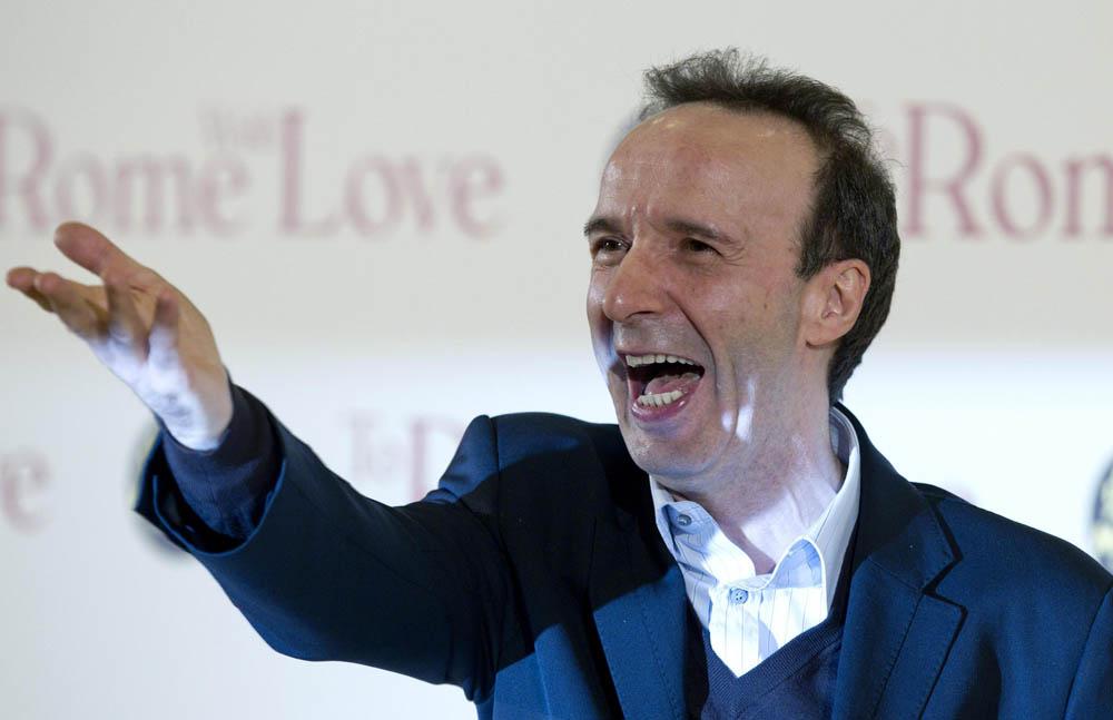 In foto Roberto Benigni (67 anni) Dall'articolo: To Rome With Love, quante sorprese nella Capitale!.