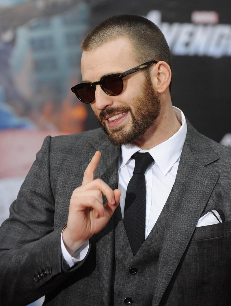 In foto Chris Evans (40 anni) Dall'articolo: The Avengers, la premiere ad Hollywood.