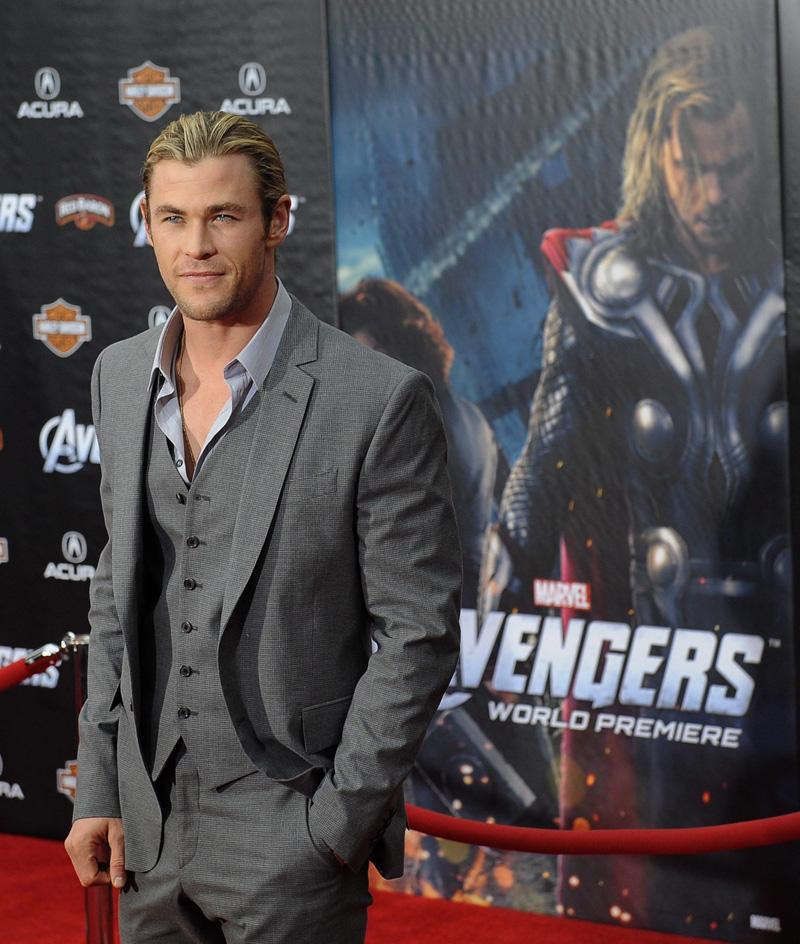 In foto Chris Hemsworth (38 anni) Dall'articolo: The Avengers, la premiere ad Hollywood.