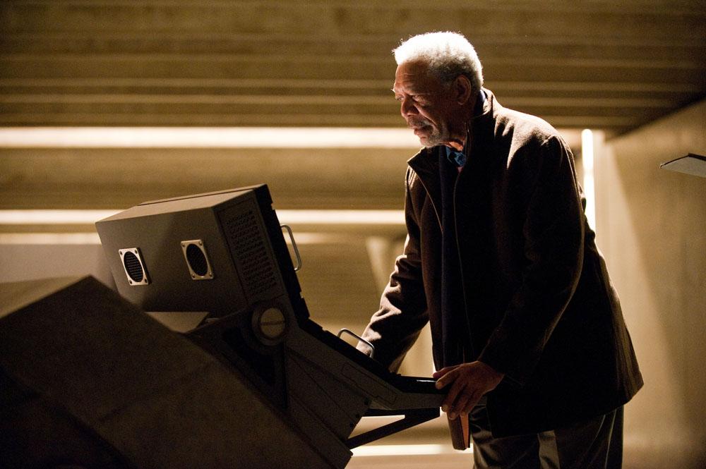 In foto Morgan Freeman (83 anni) Dall'articolo: Il cavaliere oscuro – Il ritorno, otto nuove foto.