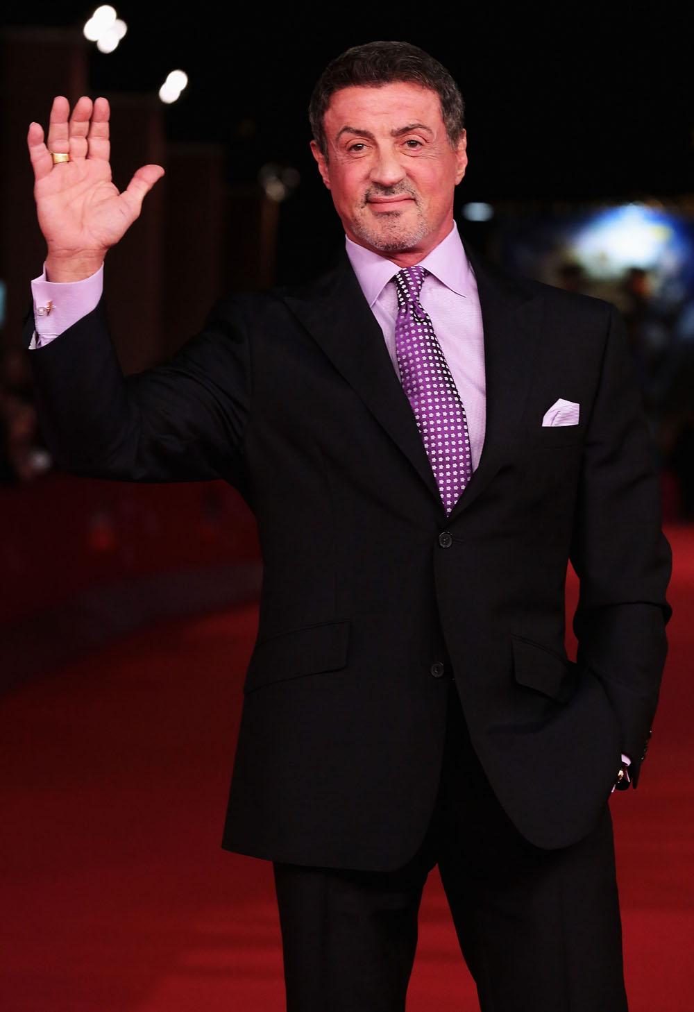 In foto Sylvester Stallone (73 anni) Dall'articolo: Roma 2012, Rambo non va in pensione.
