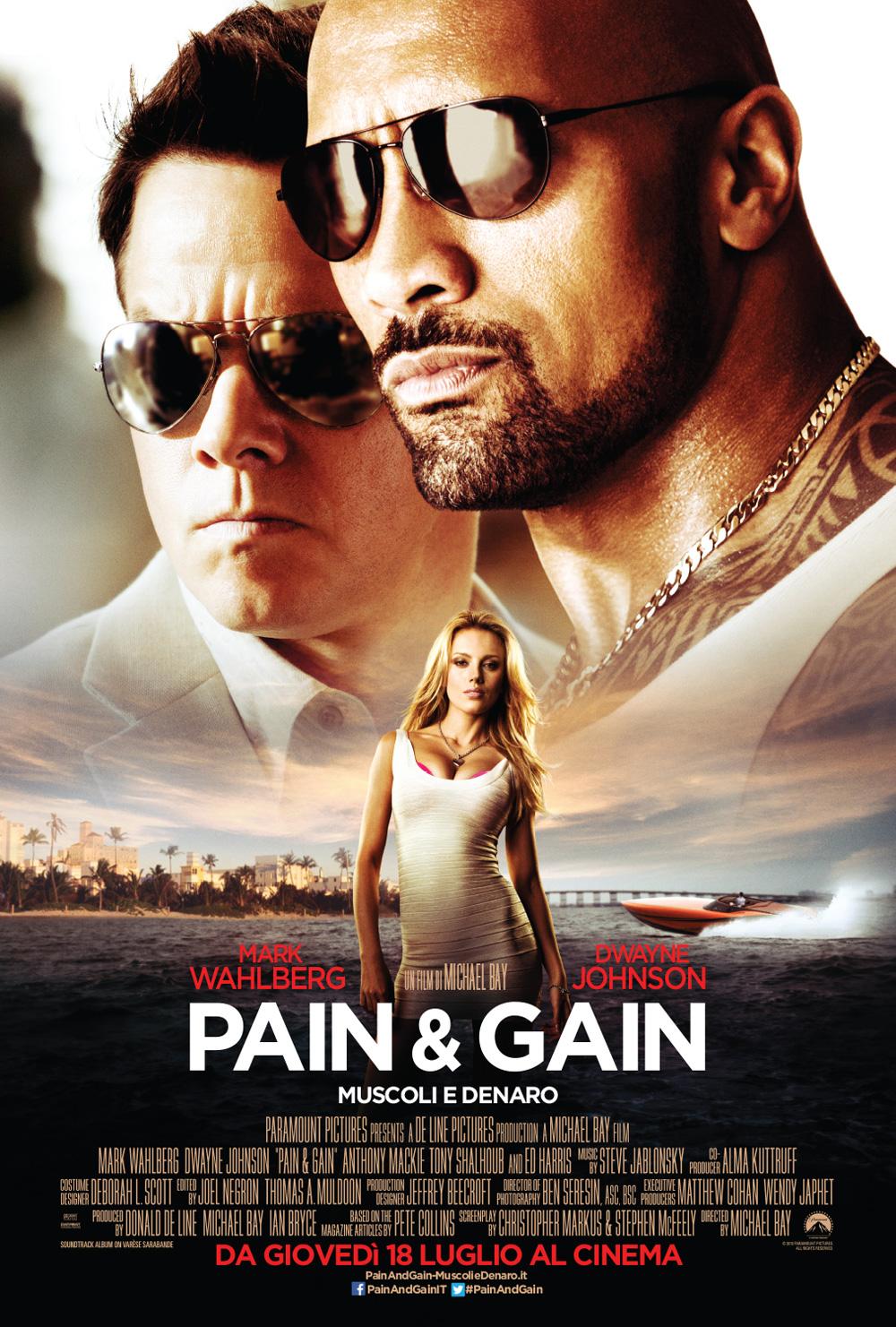 -  Dall'articolo: Pain & Gain - Muscoli e denaro, il poster italiano.