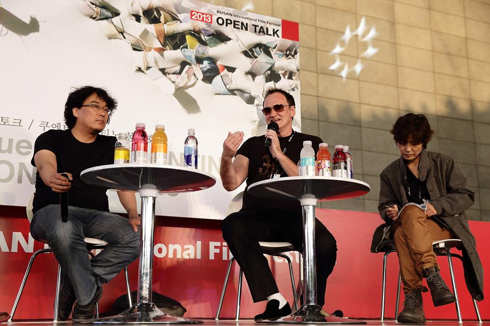 In foto Quentin Tarantino (55 anni) Dall'articolo: Busan 2013, l'ultima cena.