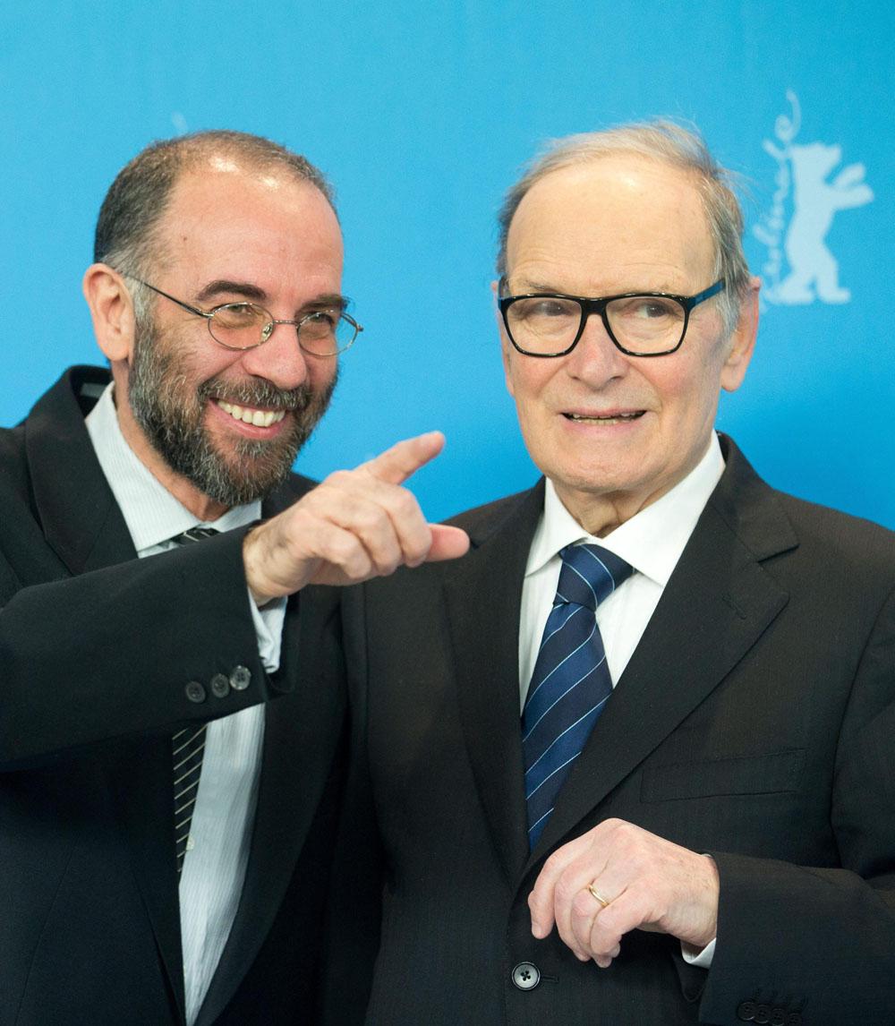 In foto Ennio Morricone Dall'articolo: Berlinale 2013, il giorno di Danis Tanovic tra storia e filosofia.