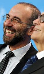 Berlinale 2013, il giorno di Danis Tanovic tra storia e filosofia - Giuseppe Tornatore ed Ennio Morricone al photocall de La migliore offerta alla 63a Berlinale.