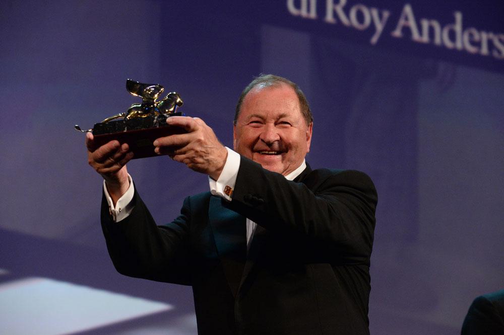 In foto Roy Andersson (78 anni) Dall'articolo: 71. Mostra del Cinema di Venezia, Leone d'Oro al film di Roy Andersson.