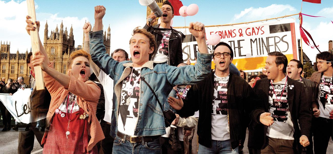 In foto una scena del film Pride di Matthew Warchus. -  Dall'articolo: La spettacolarizzazione dei diritti.