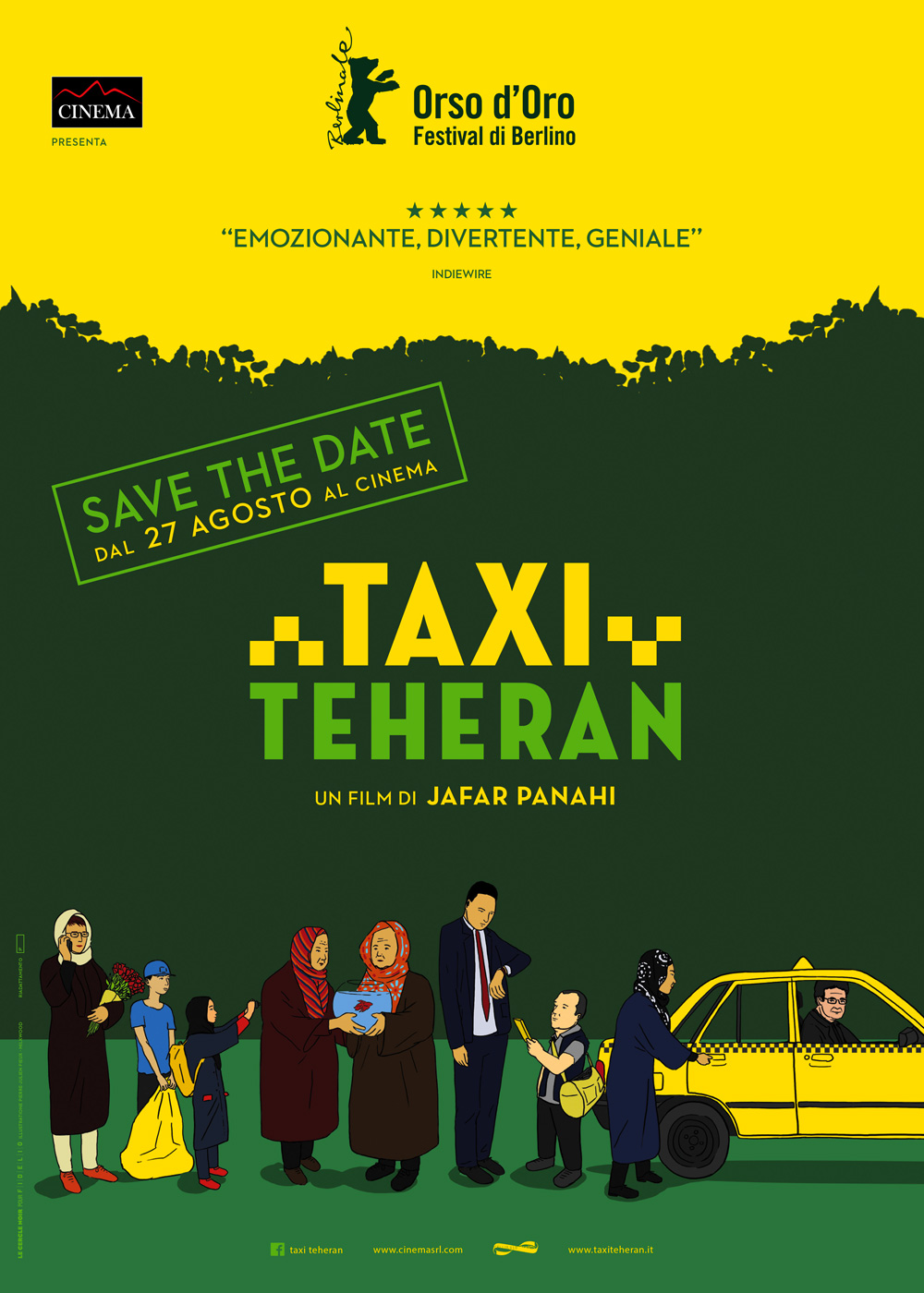 -  Dall'articolo: Taxi Teheran, la locandina italiana.