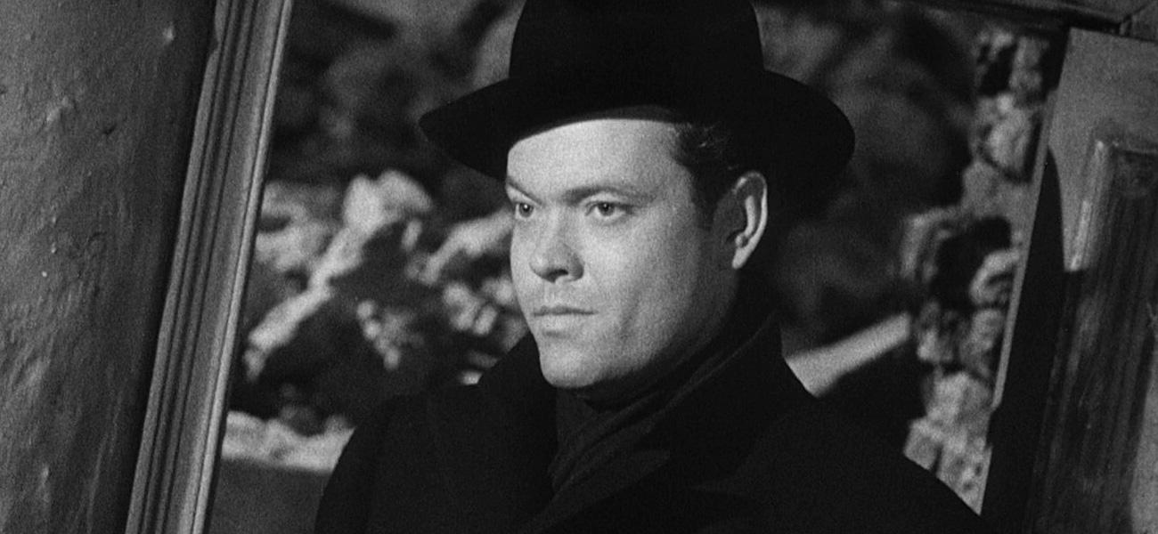 In foto Orson Welles Dall'articolo: Il terzo uomo nelle sale: rifacciamoci la bocca.