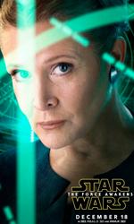 Star Wars: Il risveglio della forza, i character poster - Carrie Fisher (La Principessa Leila).