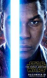 In foto John Boyega (27 anni) Dall'articolo: Star Wars: Il risveglio della forza, i character poster.