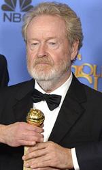 In foto Ridley Scott (83 anni) Dall'articolo: Ennio Morricone vince il Golden Globe. Tarantino: