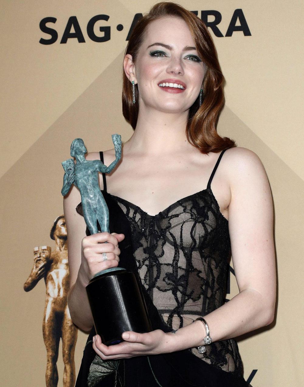 In foto Emma Stone (33 anni) Dall'articolo: Ecco l'anti La La Land: Il diritto di contare Miglior Film ai Sag Awards.