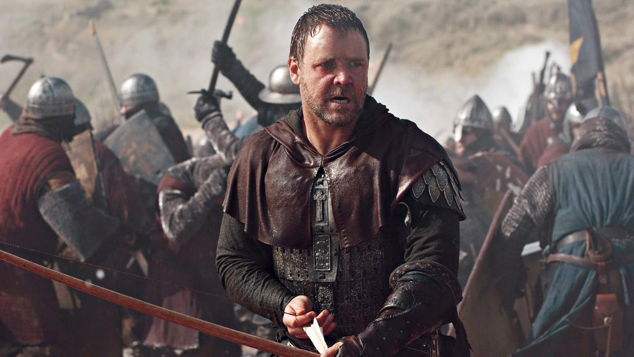 In foto Russell Crowe (56 anni) Dall'articolo: Robin Hood, il film stasera in tv su Rete4.