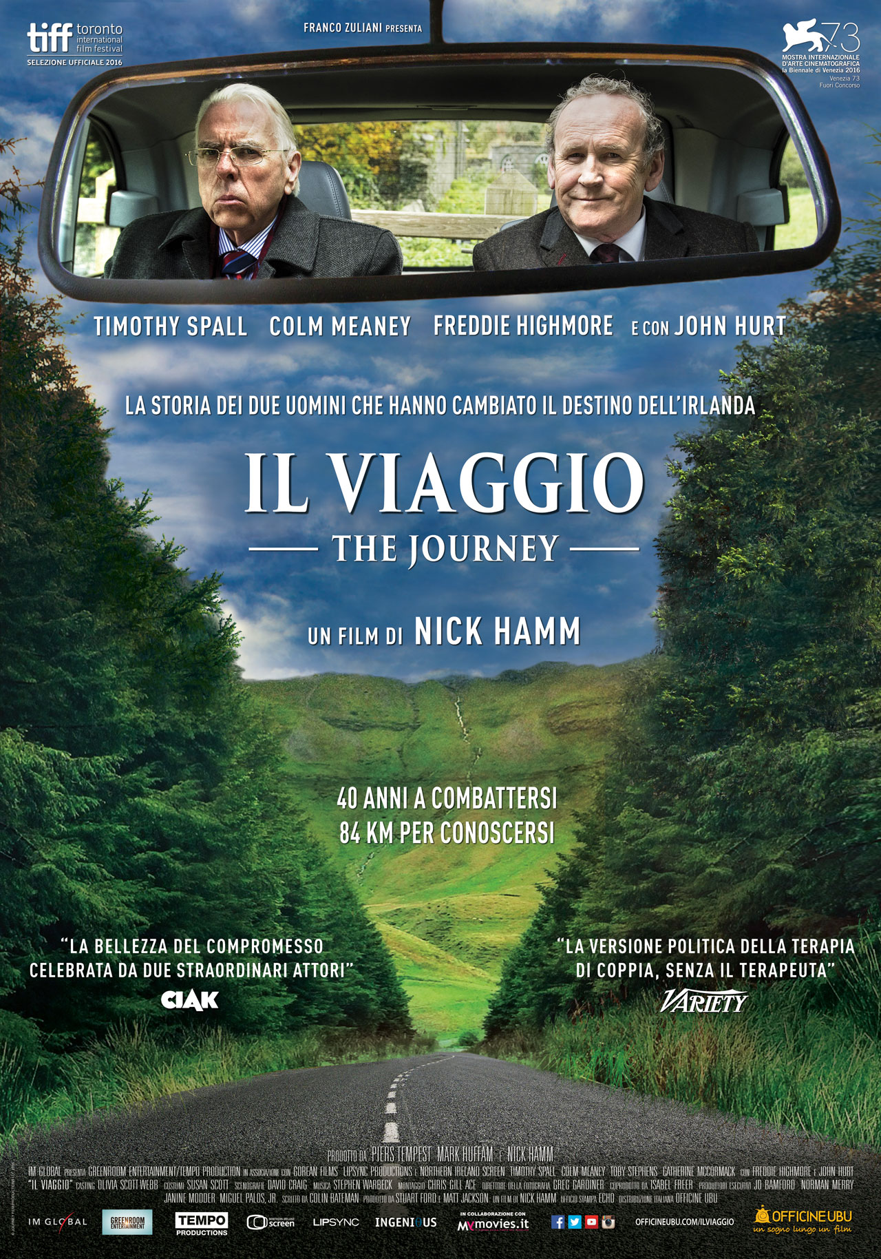 In foto Colm Meaney (66 anni) Dall'articolo: Il viaggio (The Journey), il poster del film.