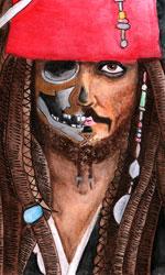 In foto Johnny Depp (57 anni) Dall'articolo: Pirati dei Caraibi - La vendetta di Salazar, la video recensione.