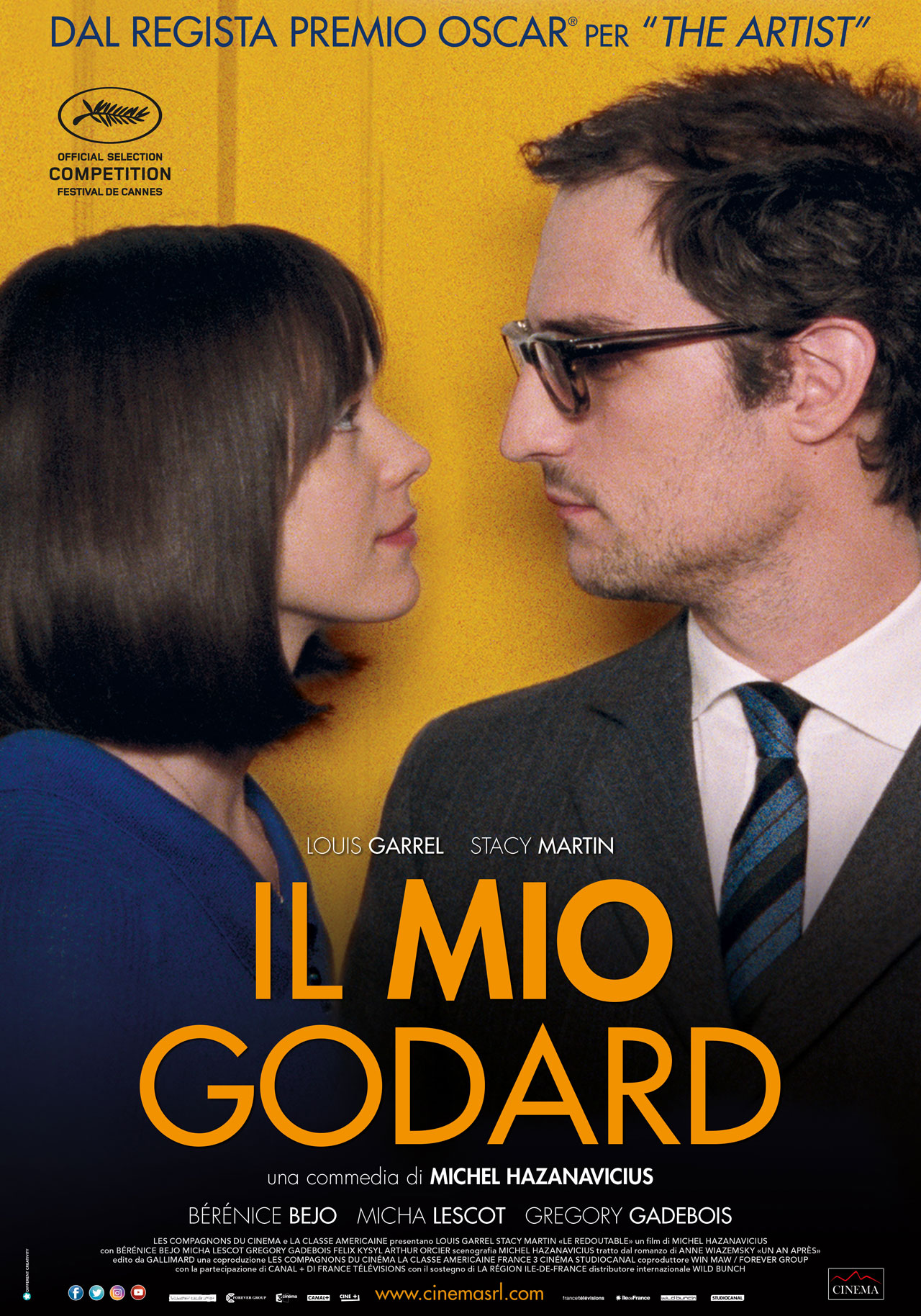 Image result for IL MIO GODARD ( 2017 ) poster