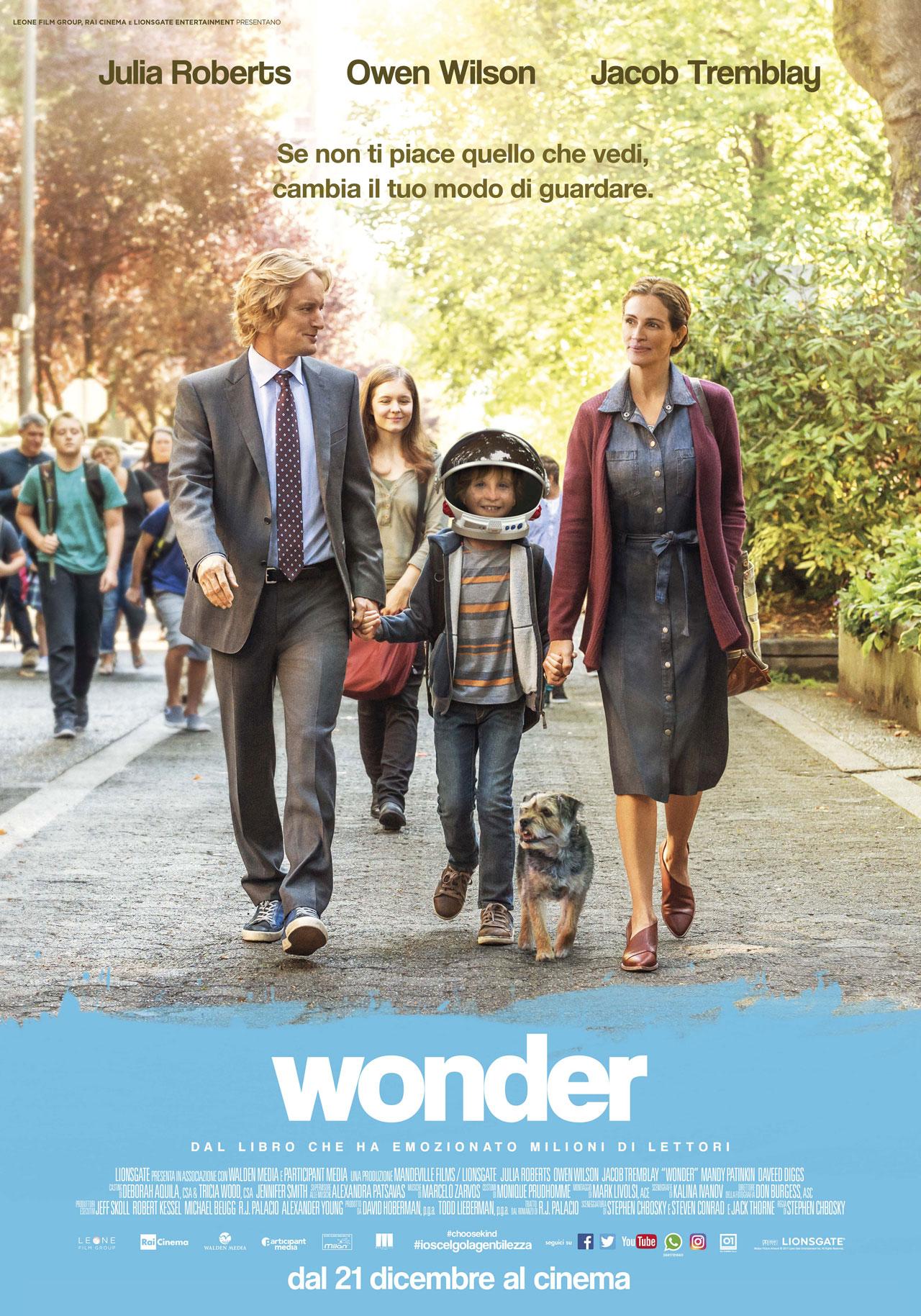 -  Dall'articolo: Wonder, il poster.