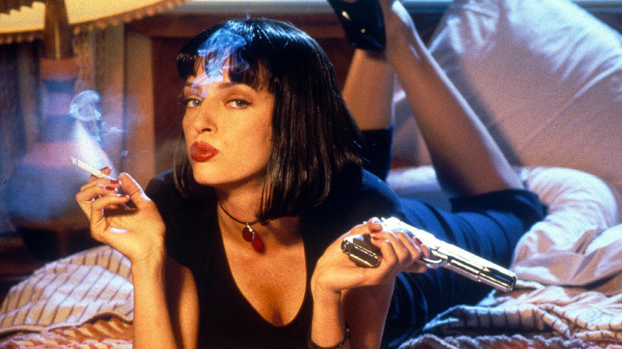 In foto Uma Thurman (50 anni) Dall'articolo: Pulp Fiction, il film stasera in tv su Tv8.