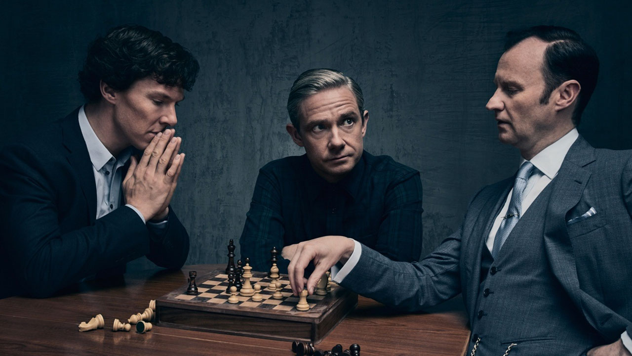 In foto Benedict Cumberbatch (44 anni) Dall'articolo: Sherlock, la 3a puntata della 4a stagione in streaming gratis.