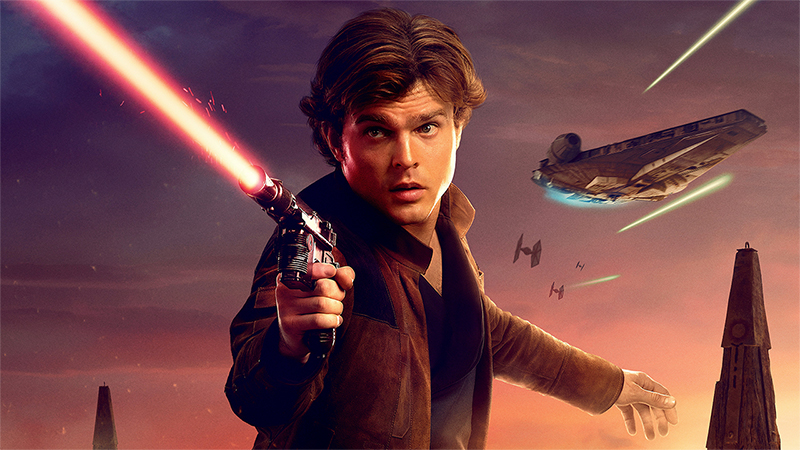 Han Solo, un corpo da gangster in un abito da cowboy