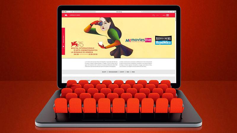 75. Mostra di Venezia, la Sala Web è su MYmovies.it e Repubblica.it