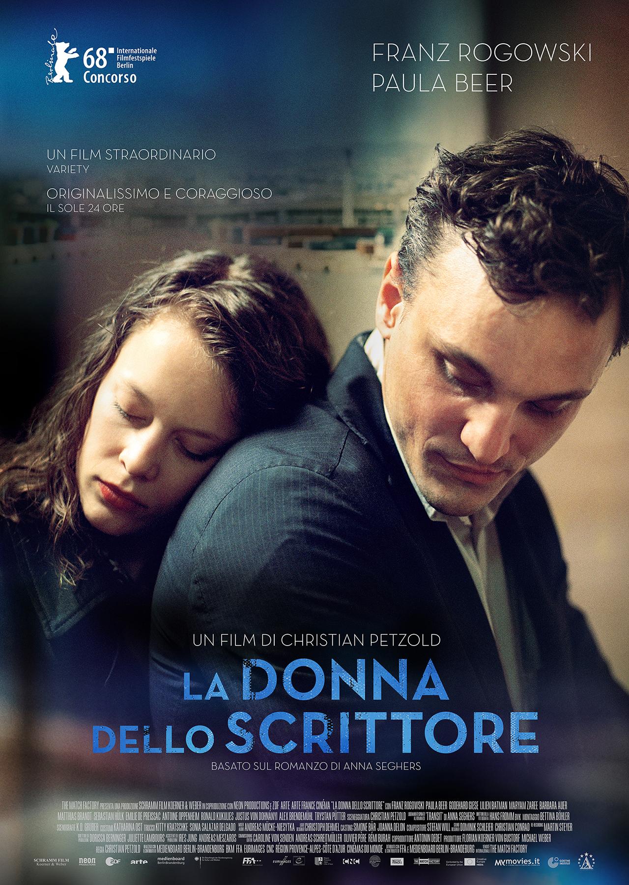 In foto Franz Rogowski (35 anni) Dall'articolo: La donna dello scrittore, il poster italiano del film?.